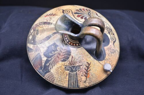 Vtg Copy of Classic Period 50 BC Hand Made GREECE Water Jug-Detailed Design