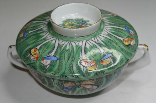 Chinese Famille Rose Medallion Export Porcelain Cabbage Bok Choy Covered Cup Mk
