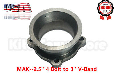 Turbo Downpipe 2.5'' 4 Bolt to 3'' V-Band Exhaust Flange Adapter Conversion Kit for sale  San Diego