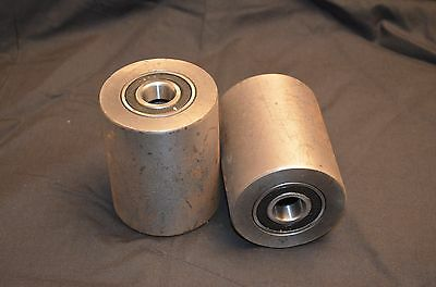 A Pair Of Brand New Pallet Jack Steel Load Wheels With Bearings
