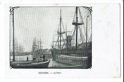 CPA -Carte postale-BELGIQUE - Oostende - Le Port - S589