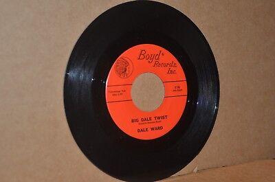 DALE WARD: DALE WARD TWIST & HERE'S YOUR HAT; 1962 BOYD 118 VG++ TEEN 45 RPM