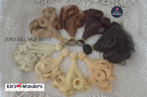 Soft Curly Doll hair weft BJDs Monster High, 25cm 1/6 Replug Reroot Modify Craft
