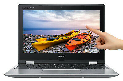 "NEW Acer Chromebook Spin 11.6"" HD Touch Intel N3350 2.4GHz 4GB 32GB eMMC Webcam"