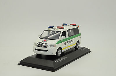 RARE !!! VW T5 Multivan Slovakia Police Policia Custom Made 1/43   for sale  Shipping to United States