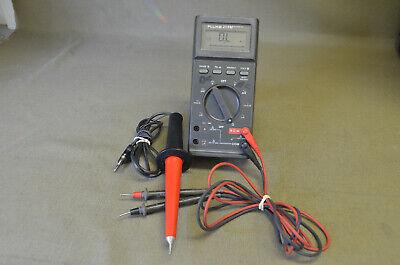 Fluke 27fm Multimeter Anpsm-45a With Case   Of-1