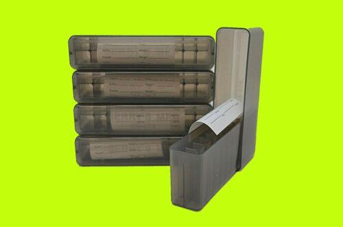 (5) 243 308 7.62x39 250 6mm 30 30 300 (SMOKE) SLIP TOP AMMO BOX 20 ROUND MPN 109
