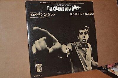 THE CRADLE WILL ROCK; 1964 MGM 4289 VG++ ORIGINAL REVIVAL CAST 2 LP SET