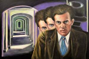 Original Surreal Huxley Painting on Canvas by SERGIO IANNIELLO
