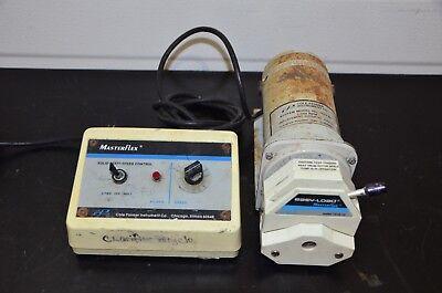 Cole Parmer 7553-80 Pump Drive 7518-10 Masterflex Head Variable Speed 100rpm