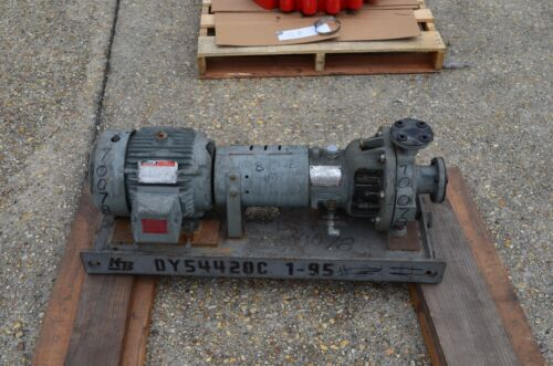 """Duriron Co Model PP-3116 A Centrifugal Pump, RPM 3600, 1 1/2"""" x1"""", HP 5,  durco"""