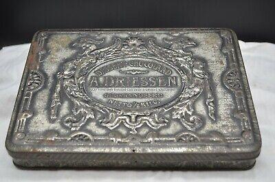 Vintage Silver Holland A. DRIESSEN Dessert Chocolard 1/2 Kilo Metal Tin