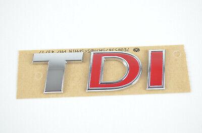 7E0853675A I VW TDI Schriftzug Emblem Logo Schriftzug selbstklebend T5 T6 rot gebraucht kaufen  Wunstorf