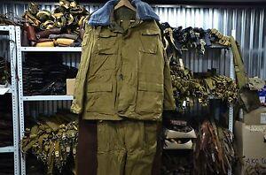 Vintage Russian Soviet Army Afganka Winter Suit Uniform Sand