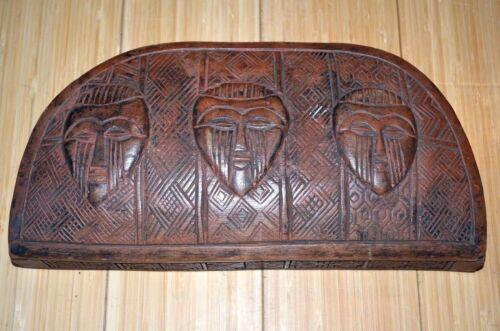 Antique Kuba Hand Carved Wood Tukula Red Powder Ceremonial Box Congo, Africa