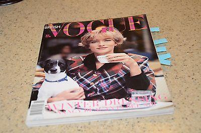 November #11 1989 Vogue Magazine British Edition Reagon Yoko Ono Diana Ad