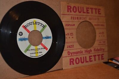 DARLENE MCCRAE: YOU MADE A FOOL OF ME & YOU; 1959 ROULETTE 4173 MINT- TEEN 45