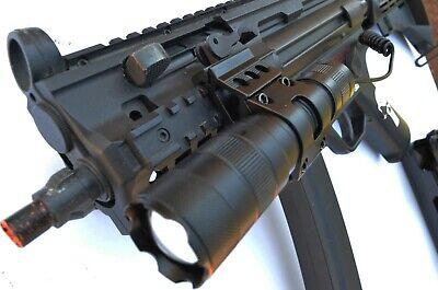 Tactical LED Gun Flashlight 800 Lumens Rifle Shotgun with Picatinny Offset Mount