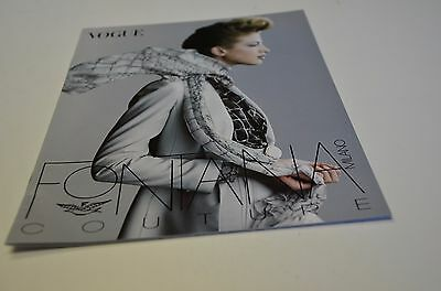 1997 Vogue Fashion Magazine Catalog Insert Foldout Italia Fontana Couture Ad
