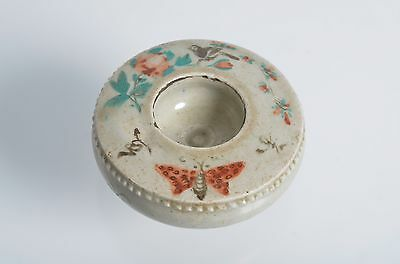 Antique 17thC VIETNAMESE pottery Brush washer painted Le dynasty stoneware bird