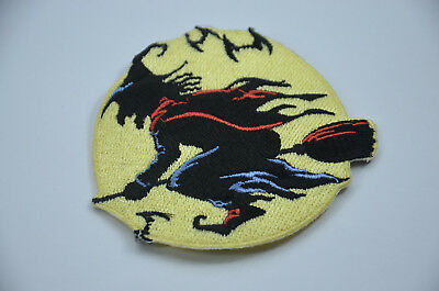 WITCH BROOMSTICK HALLOWEEN 3' 8cm SEW IRON ON  PATCH BADGE EMBROIDERY APPLIQUE