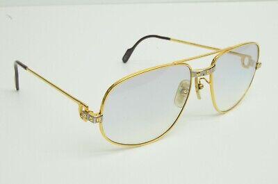 Authentic Cartier Vintage Sunglasses Romance Santos 58 18 140 GP Silver Glasses