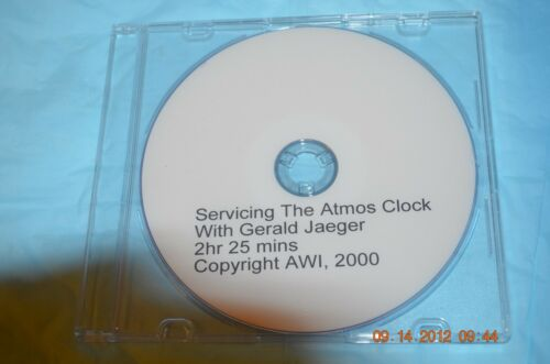 Servicing the Atmos Clock DVD by Gerald Jaeger for project