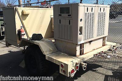 Military Yanmar Diesel Quiet Generator Communications Air Conditioned Trailer