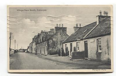 Cairnryan, Wigtownshire - Village from South - street scene - 1944 used postcard