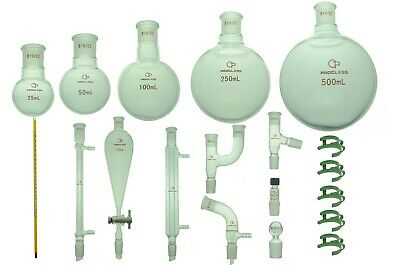 Proglass Glass Primay Organic Chemistry Kit 1922 Lab Glassware Set