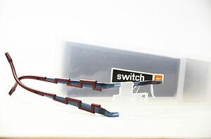 Switch it combi 663 Kunststoff blau grau Wechselbrille Damen Brille Neu
