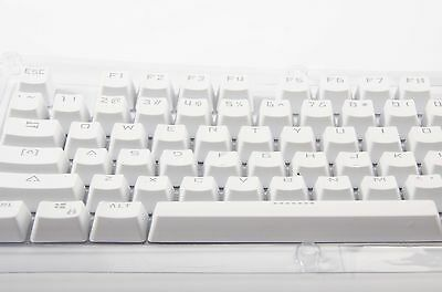 White Doubleshot Translucent ABS Backlit 104 KeyCap for Cherry MX Keyboard