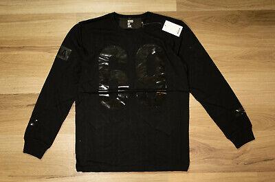 NWT Hood By Air 69 Logo Long Sleeve T-Shirt Size M Black