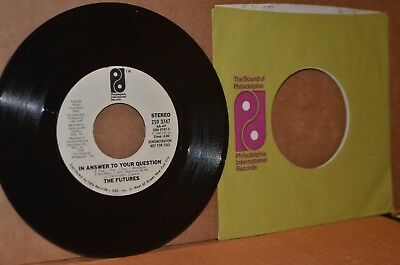 THE FUTURES: IN ANSWER TO YOUR QUESTION & LET'S DANCE TOGETHER; MINT- WLP 45 RPM