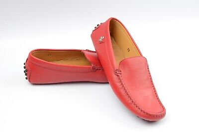 TOD'S Tods Ferrari Kids Youth Drivers Loafers Shoes red Size EUR 35