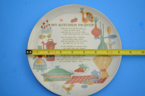 ORIGINAL NAPCO China Hand painted No. 1M5293   8 inch plate  My kitchen prayer