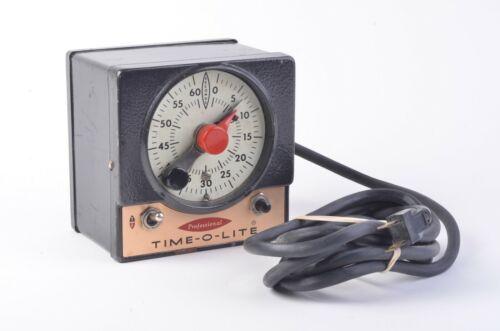 EXC++ TIME-O-LITE DARKROOM TIMER MODEL P-59, TESTED, WORKS GREAT
