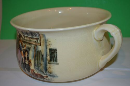 Antique Crown Devon Fieldings Chamber Pot England Transferware Cries of London