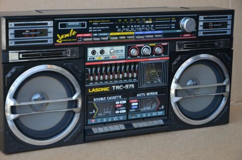 Lasonic TRC-975 Radio/Headphone Jack/Dual Cassette Boombox