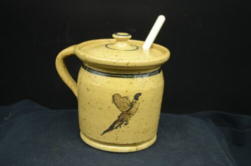 Vintage DAKOTA Stoneware, Bushnell, SD Advertising  Honey/Preserve Bowl-Pheasant