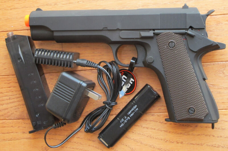 Metal Gearbox Airsoft Electric Gun 1911 Style Shoot Up to 300 FPS