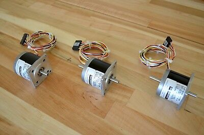 New 3 Kollmorgen Pac-sci H21nsfa Nema23 Dual-shaft Stepper Stepping Motor -cnc