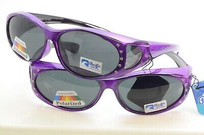 NEW POLARIZED SLIP OVER WOMEN BLING WRAP AROUND SUNGLASSES (Over Sunglasses Wrap Around)