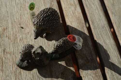 Schleich 14337 and 14623 Hedgehog Family Retired Figurines New Cute