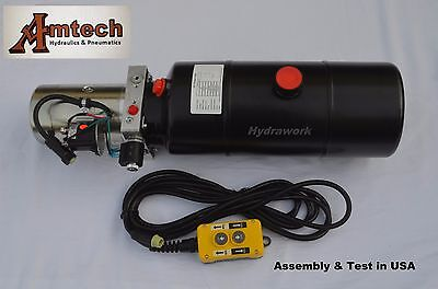 3206c Hydraulic Power Unit Hydraulic Pump12v Single Acting 6qt Dump Trailer