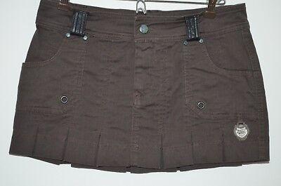 Diesel Brown 98% Cotton/2% Spandex Pleated Mini Skirt Size 26 Diesel Cotton Skirt