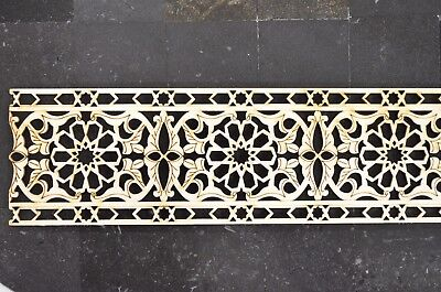 Carved wooden panel, Decorative Onlay Wooden Trim Panel Plaque Beading Dado Wood