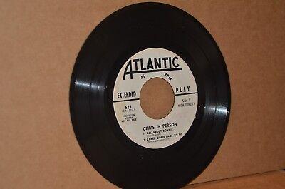 CHRIS CONNOR: IN PERSON; 1960 ATLANTIC 623 VG++ 45 RPM EP; LIVE RECORDING