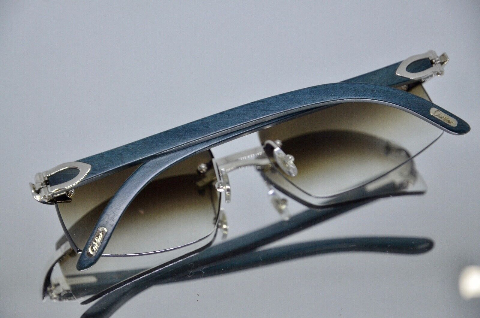 Cartier lunette blue limited edition vintage wood rare disontinued giverny