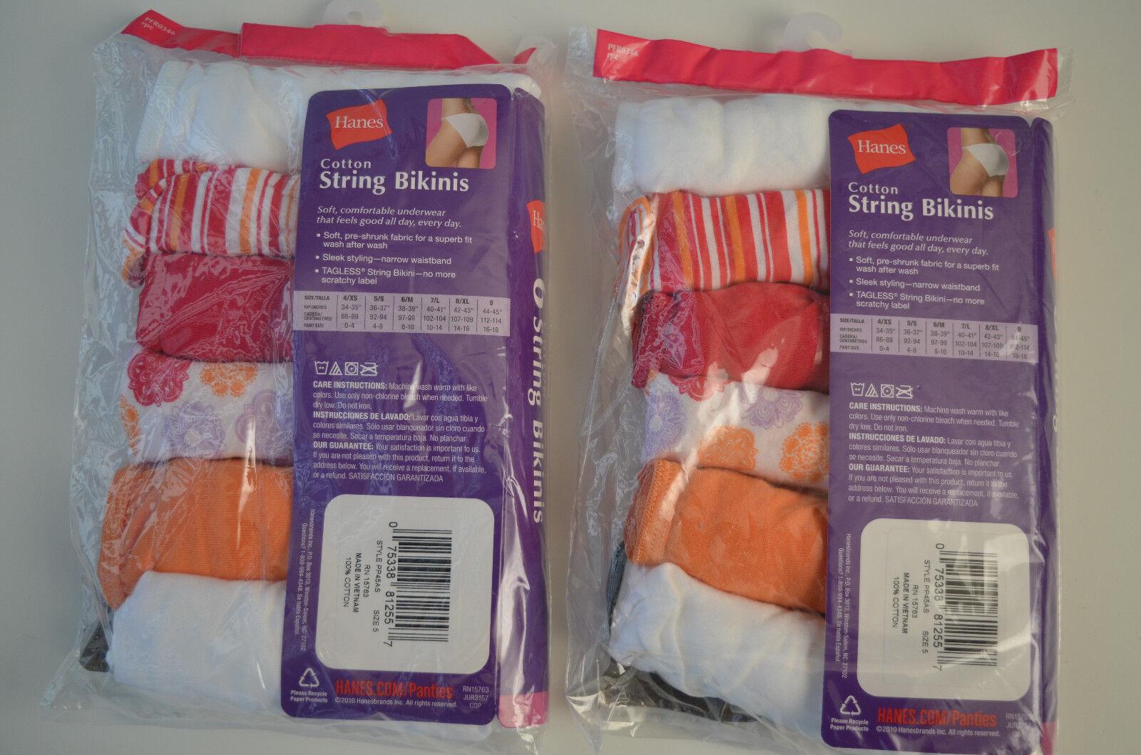 7ecda5bdb (12-PACK) Hanes Women s Cotton Sporty String Bikini Panty PICK YOUR SIZE 5  6 8